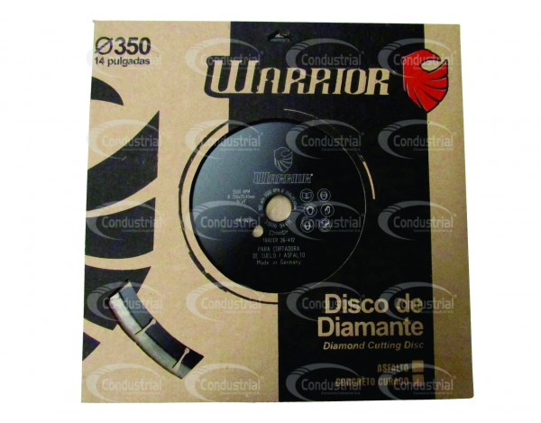 DISCO LASER DE CORTE PARA CONCRETO WARRIOR 26-412