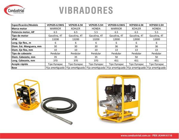 VIBRADOR A GASOLINA PARA CONCRETO - CONDUSTRIAL - VCP650-5.5H