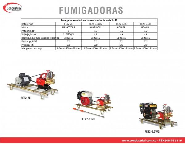 FUMIGADORA ESTACIONARIA A GASOLINA 4T - CONDUSTRIAL - FE22-6.5K