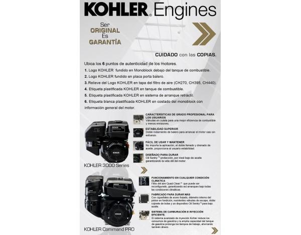 MOTOR A GASOLINA  - KOHLER - CH270-3017