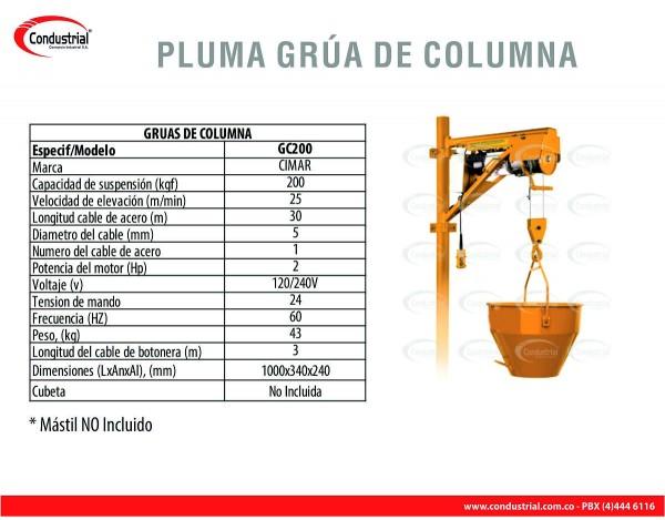 GRUA DE COLUMNA CIMAR CG200