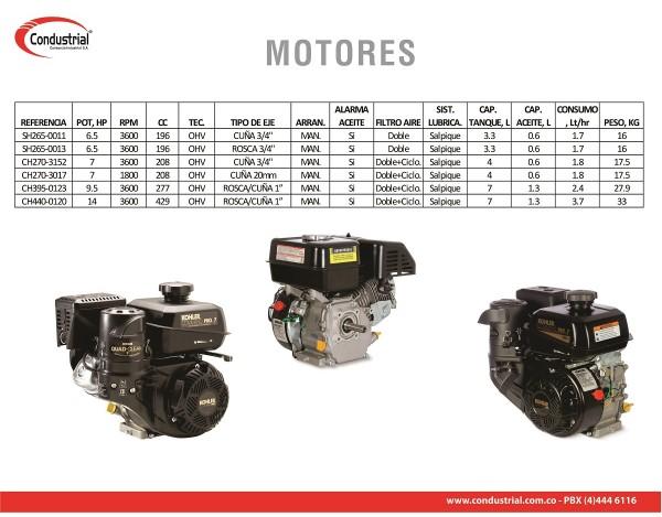 MOTOR A GASOLINA  - KOHLER - SH265-0011