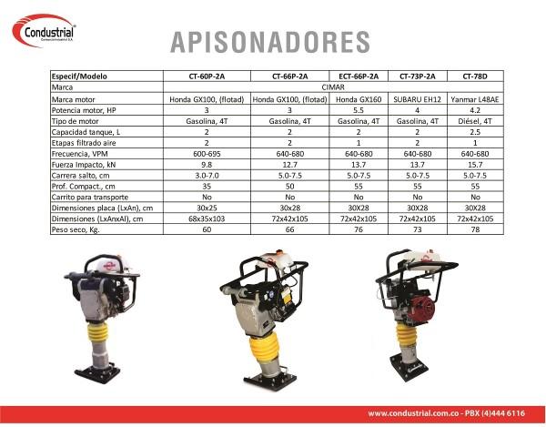 APISONADOR A GASOLINA 4T - CIMAR - CT-60P-2A