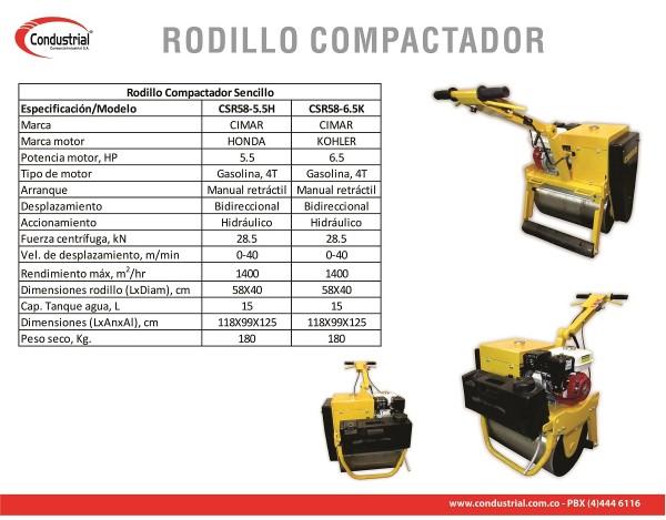 RODILLO VIBROCOMPACTADOR CSR58-5.5H
