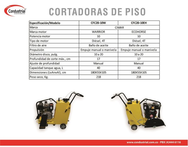 CORTADORA DE PISO DIESEL CFC20-10EH