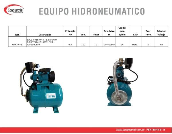 EQUIPO HIDRONEUMÁTICO APM37-A5