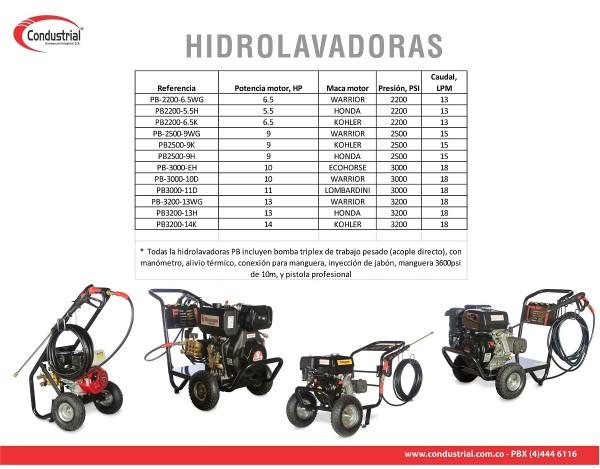 HIDROLAVADORA A GASOLINA - POWERBLAST - PB2500-9H