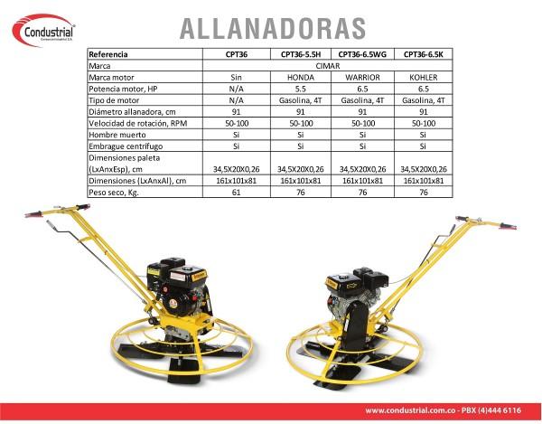 ALLANADORA A GASOLINA 4T - CIMAR - CPT36-6.5K