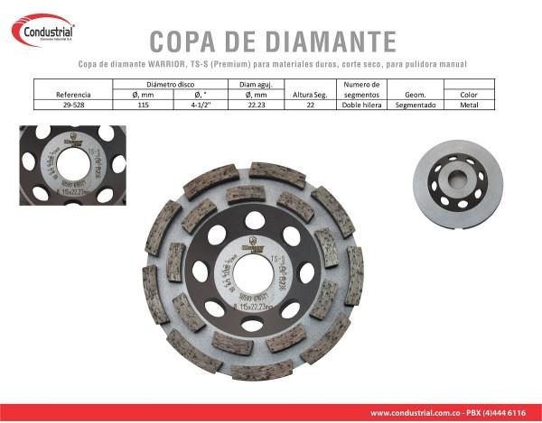 COPA DE DIAMANTE  WARRIOR, TS-S (Premium) 29-528