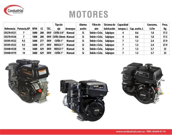 MOTOR A GASOLINA  - KOHLER - CH270-0011