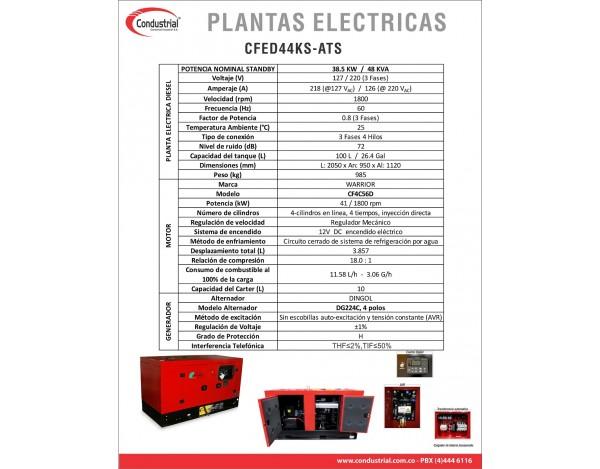 PLANTA ELECTRICA CFED10KS-1-ATS