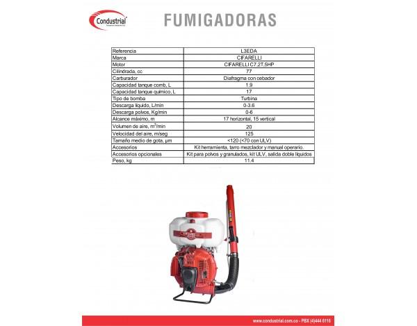 FUMIGADORA DE ESPALDA CIFARELLI L3A